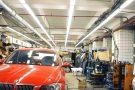 Освещение кузовного цеха Автодома BMW, г. Москва.