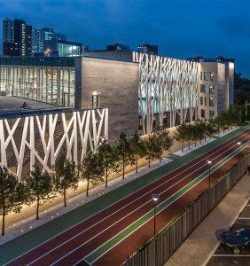 Хорошевская прогимназия. Архитектурное освещение фасада «Хорошколы», г. Москва