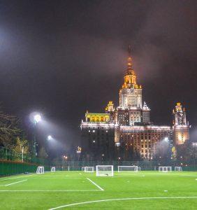Проект освещения стадиона Московского Государственного Университета (МГУ)