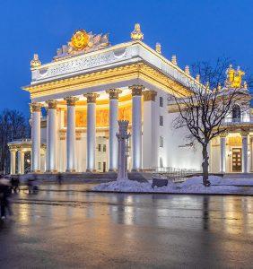 Архитектурное освещение Павильона№71 «Атомнаяэнергия» на ВДНХ