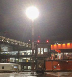 Освещение перрона аэропорта Шереметьево, ТерминалB, г. Москва